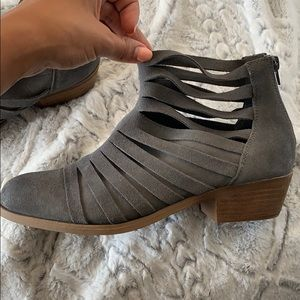 Brand New Suede Gray Booties